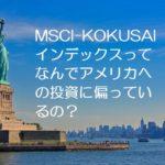 MSCI-KOKUSAIインデックスはなんでアメリカへの投資に偏っているの?