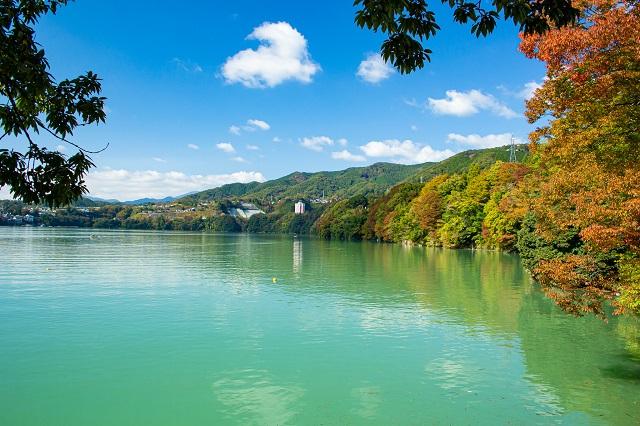 Lightroom補正後の相模湖の写真